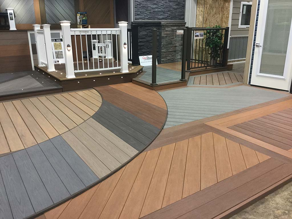 Composite product olympic building centre for Composite decking brands